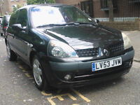 RENAULT CLIO 1.2 BILLABONG 16V 2003 53 REG MET BLACK 3 DOORS 5 SPEED MANUAL PAS 88K SUPERB BARGAIN