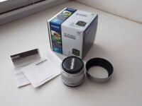 Olympus M.Zuiko Digital Premium 25mm 1:1.8 Lens in Silver m43