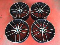 "20"" BMW M PERFORMANCE SPORT F30 REPLICA ALLOY WHEELS TYRES 5x120 3 SERIES"
