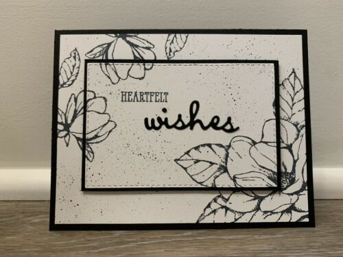 Handmade Magnolia Heartfelt Wishes Sympathy or Get Well Card - Stampin Up