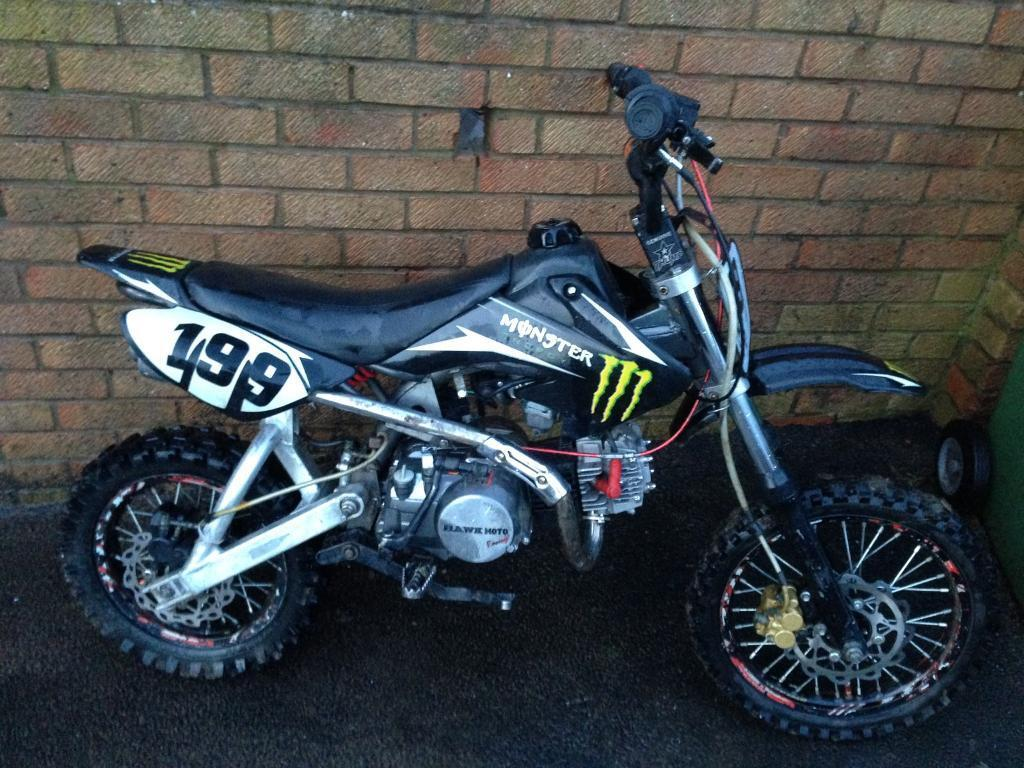 Thumpstar Orion Pit Bike 140cc Runs And Rides Crf70 New Parts Not 155 125 110 90