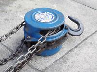 1 ton Tralift chain hoist 9m long drop