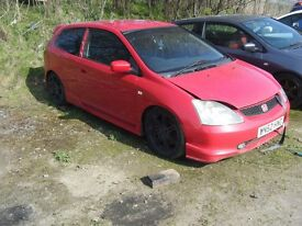 BREAKING 3 HONDA CIVIC TYPE R CARS K20 LOADS OF PARTS CAN POST IV18 0LP INVERNESS AREA