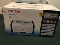 Ricoh SP 201n Black and White Laser Printer 1200x600dpi