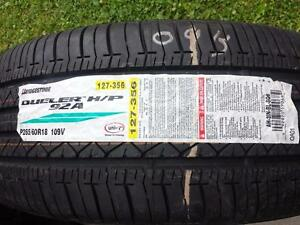 ONE TIRE ONLY BRAND NEW WITH LABEL BRIDGESTONE HIGH PERFORMANCE ' V ' RATED 265 / 60 / 18 ALL SEASON TIRE.