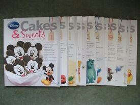 Lot of 15 Issues of Disney Cakes and Sweets Magazine recipes, baking, bake, cooking, kids, food
