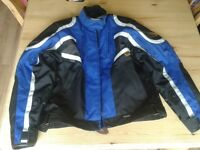 Ladies blue motorbike jacket for quick sale