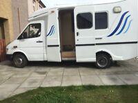 Mercedes ambulance converted in to a camper van