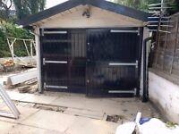 Garage double doors