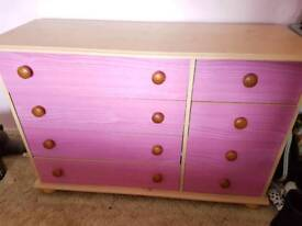 Girls Pink Chest of Draws