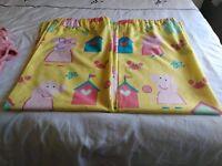 Peppa pig curtains