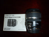 Canon EF-S17-85mm f/4-5.6 IS USM lens **can post if necessary**