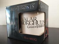 "Game of Thrones 11oz mug, ""Valar Morghulis"", white mug, brand new, gift idea"