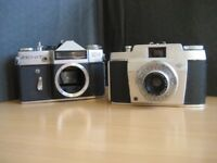 Used Zenit EM 35mm Camera Body and Used Agfa 35mm Camera