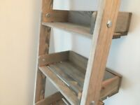 Gorgeous rustic ladder shelf / bookcase