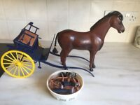 1980's Sindy Horse and Buggy and Tackle.
