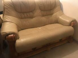 Leather couch 2+1