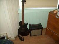 electric guitar plus 10 watt amp for sale