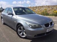 2005 BMW 5 SERIES 2.5 525d SE 4dr GREY+FULL LEATHER+FULL HISTORY