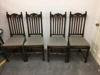 Antique Victorian Edwardian Dinning room chairs set of 4 kitchen Grand Seat