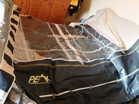Peak harrington 950/975 carbon frame awning , used 4 times , sand/ charcoal £275