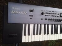 Roland RS-50 Keyboard Synth MIDI Controller; Case and Stand - Trade for Boss ES-5 accepted