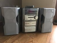 Sony 5-CD, MiniDisc recorder/player and AM/FM Radio. Great sound and versatility