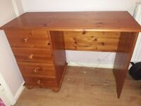Solid Wood Dressing Table Very Good Condition