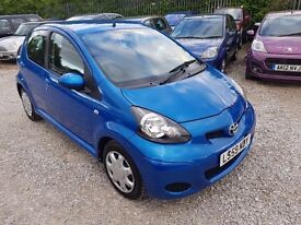Toyota Aygo 1.0 VVT-i Blue 5dr, FULL SERVICE HISTORY. HPI CLEAR. GENUINE LOW MILEAGE. P/X WELCOME