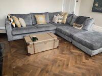 Grey Corner Sofa - Excellent Condition