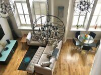 Stunning & Central Chandelier Duplex / 2 Bed 2 Bath / Trongate (G1)