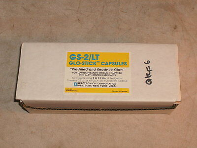 Spectronics Gs-2lt Glo-stick Capsules For Systems 5 To 9.9 Lbs Gs2lt - Box Of 6