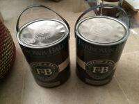 2 - 5 Litre pails of Farrow and Ball Paint - Unused
