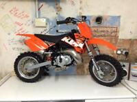 Ktm 50 SX Junior Extremely low use & Lem RX 65cc MX top spec very cheap