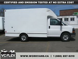 2013 GMC Savana G3500 12Ft Unicell Box + Barn Doors/Shelves
