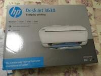 Brand new HP deskjet 3630 printer wireless white with test cartridges