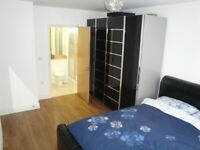 Room with ENSUITE bathroom, HD TV, living room, in modern flat with communal gym