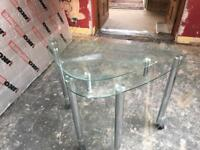 Glass corner computer table