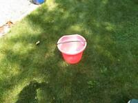 Pink watering bucket-heavy duty-LARGE