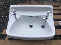 Royal Venton Sink, retro - with taps and supports