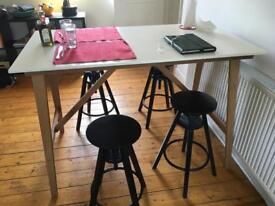 4 Ikea Dalfred black stools