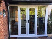 White UPVC porch double glazed
