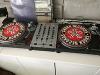 Sony DJ 9000 turntables and mixer