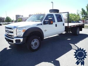 2016 Ford F550 XLT SuperCrew - Diesel - 4WD - 12 Ft Flat Deck