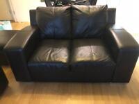 Leather sofas (Black)