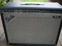 """Fender 'The Twin' electric guitar amplifier - 100 watts 2 x 12"""" - Twin reverb USA - '80s Red Knob"""