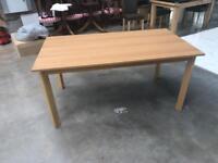 Wood veneer dining table