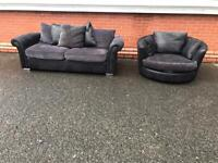 Dfs sofa & matching chair couch settee suite. FREE DELIVERY LOCAL