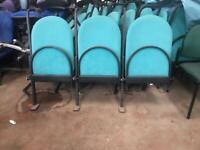 Green Folding Stadium Chairs (Bay of 3)