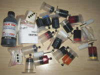 JOB LOT OF INKJET PRINTER INK REFIL STUFF